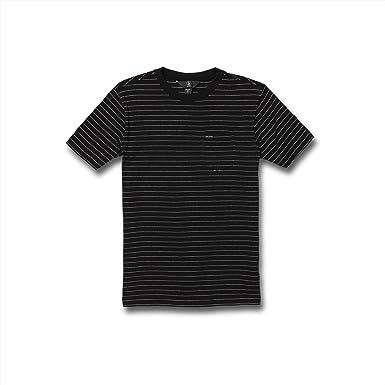 Volcom Big Boys Storie Striped Crew Short Sleeve Shirt