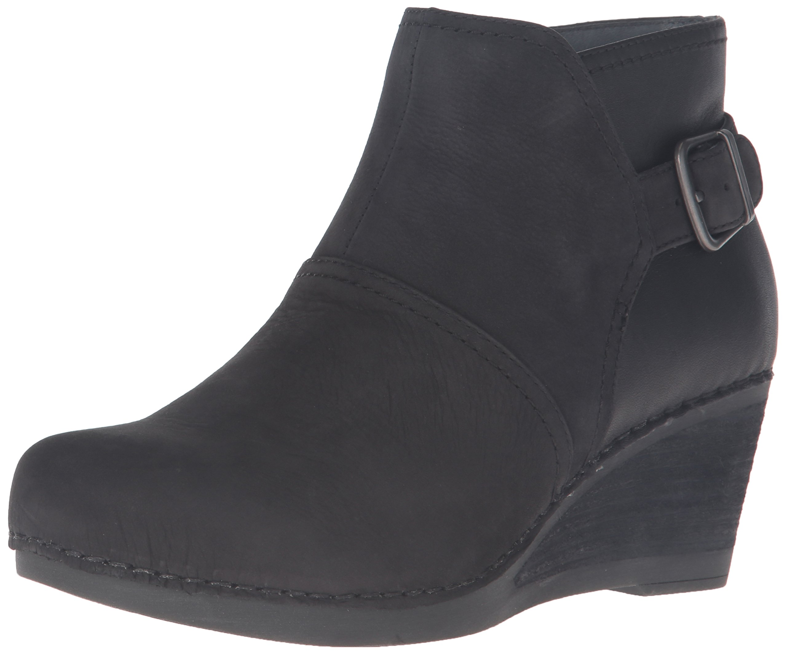Dansko Women's Shirley Boot, Black Nubuck, 38 EU/7.5-8 M US