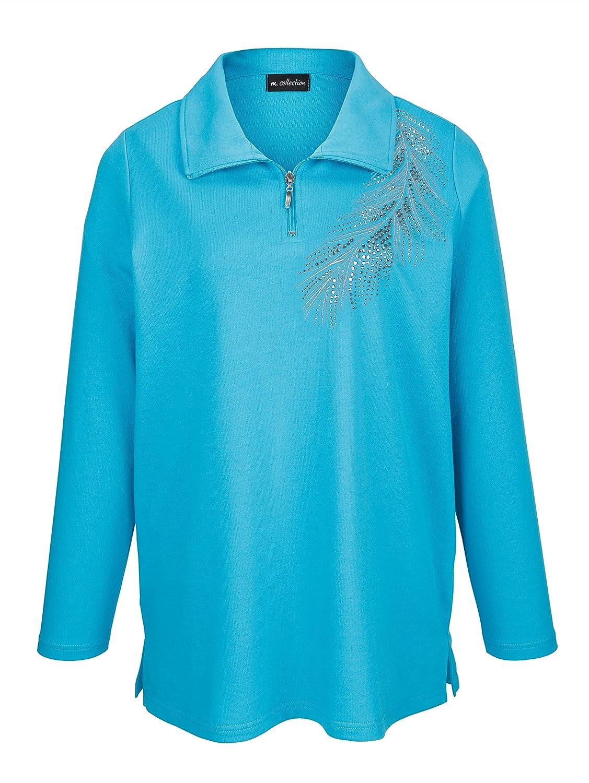 M. collection Damen Sweatshirt mit hochschließbarem Troyerkragen Pflegeleicht Pflegeleicht Pflegeleicht B07MBV4YNM Sweatshirts Neues Produkt ad06bf
