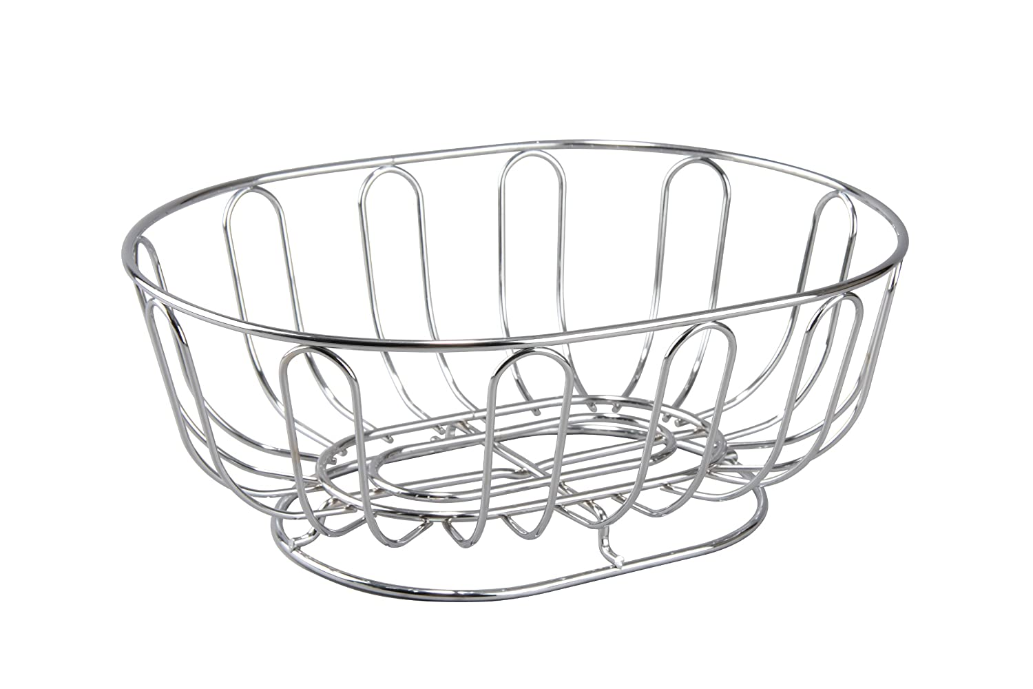 Cuisinox Oval Bread Basket/Fruit Bowl, Stainless Steel Cuisinox (Import) BAS-2922