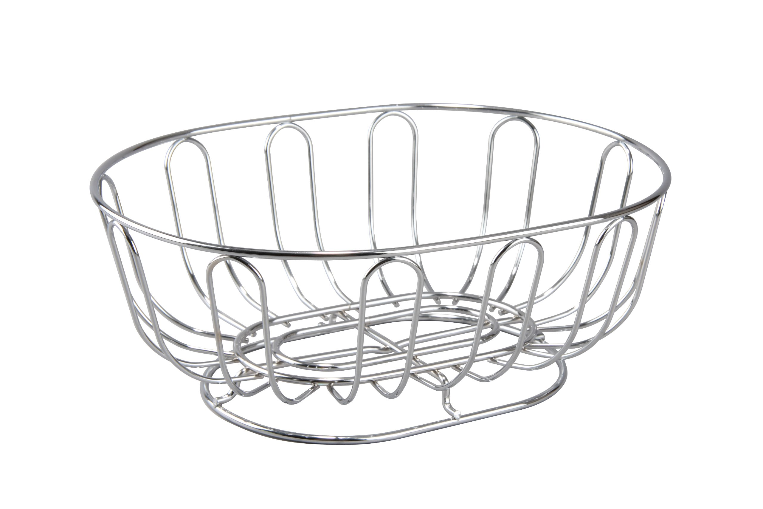 Cuisinox Oval Bread Basket/Fruit Bowl, Stainless Steel