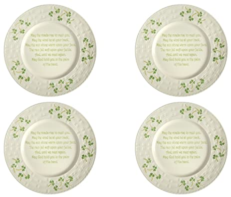 Celtic Classics Irish Blessing Traditional Basket Weave Shamrocks Design Irish Blessing Dinner Plate / Charger Plate  sc 1 st  Amazon.com & Amazon.com | Celtic Classics Irish Blessing Traditional Basket Weave ...