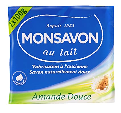 Monsavon jabón y leche de almendras 2x100g - Conjunto de 4