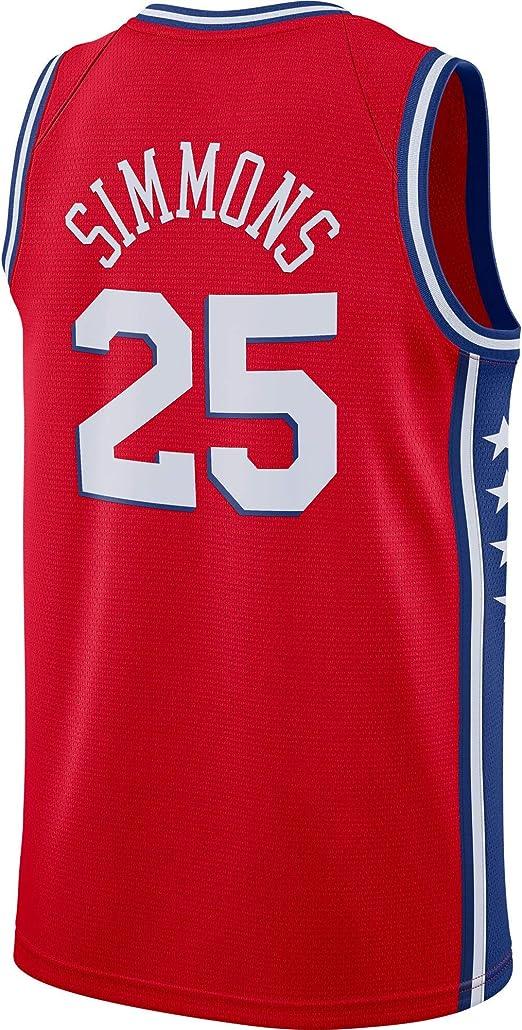 Hombre Ropa Baloncesto Jersey Camiseta Baloncesto Ben Simmons #25 ...