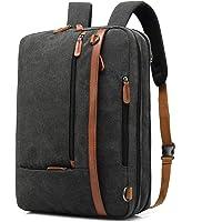 CoolBELL Convertible Backpack Shoulder bag Messenger Bag Laptop Case Business Briefcase Leisure Handbag Multi-functional Travel Rucksack Fits 17.3 Inch Laptop For Men/Women, Blcack