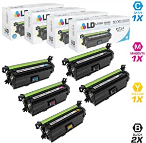 LD Compatible Toner Cartridge Replacement for HP 653X High Yield & HP 653A (2 Black, 1 Cyan, 1 Magenta, 1 Yellow, 5-Pack)