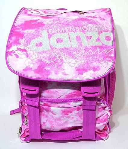 Mochila Tamaño Dance escuela extensible diseño New Pink