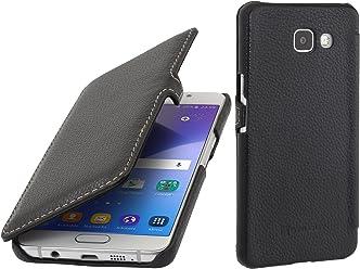 StilGut Book Type Case con Clip, Custodia in Pelle per Samsung Galaxy A5 (2016), Nero