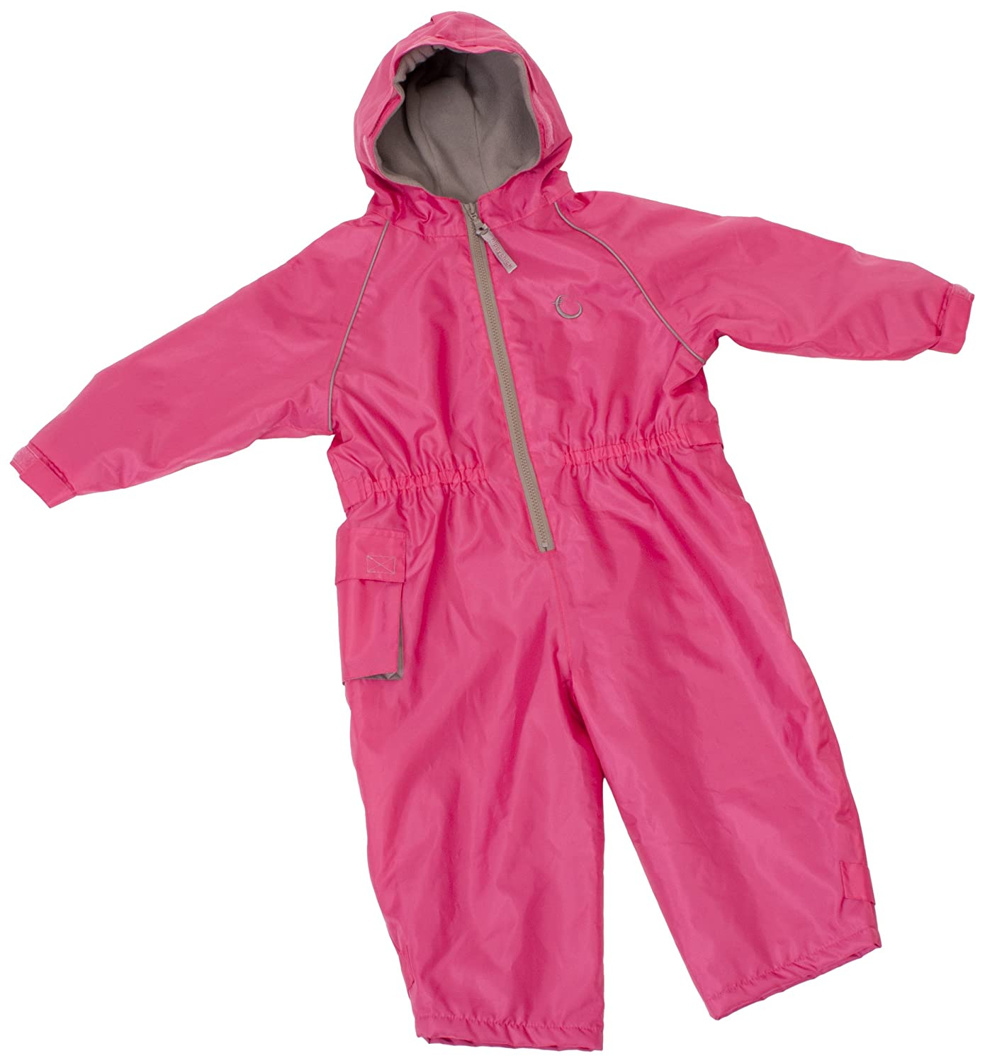 Hippychick Fleece Lined Waterproof All-in-One Suit - Pink, 18-24 Months HWNAPF18-24