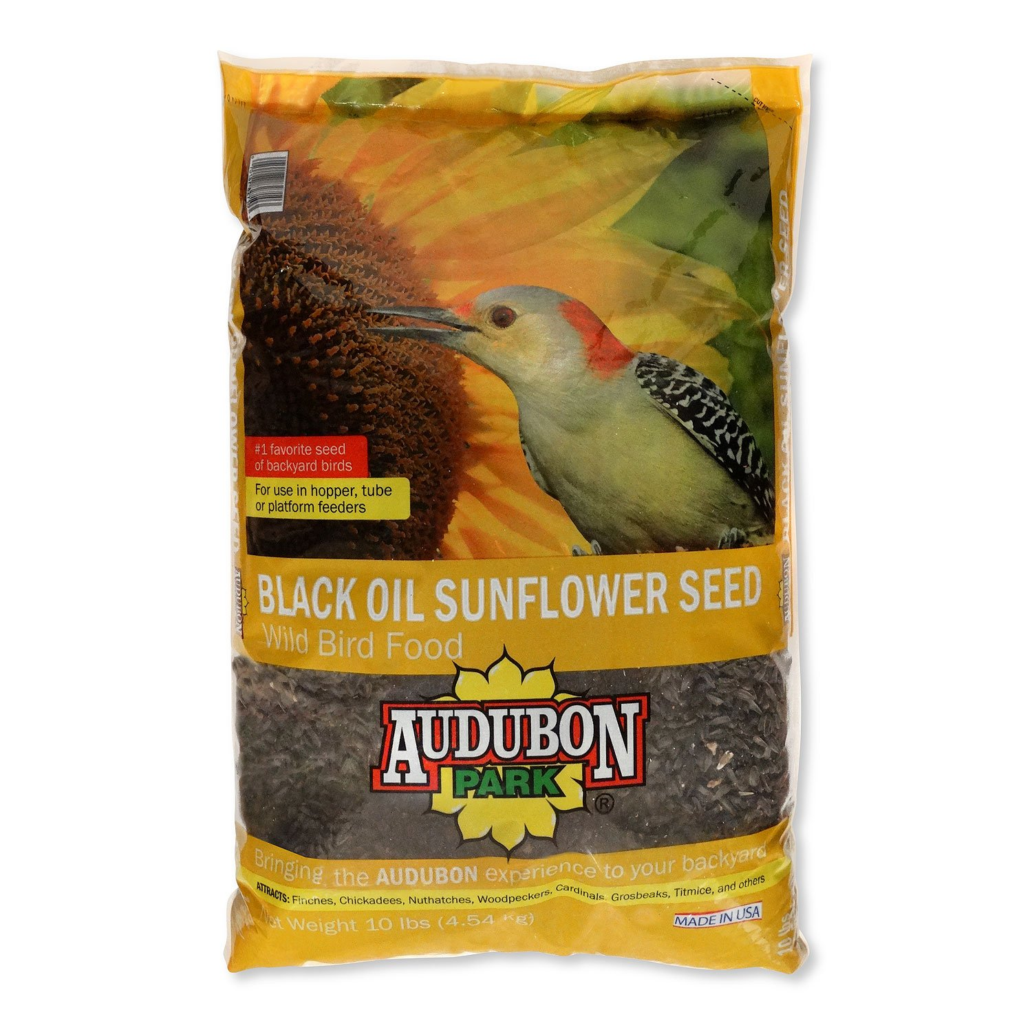 Audubon Park 12261 Black Oil Sunflower Seed Wild Bird Food