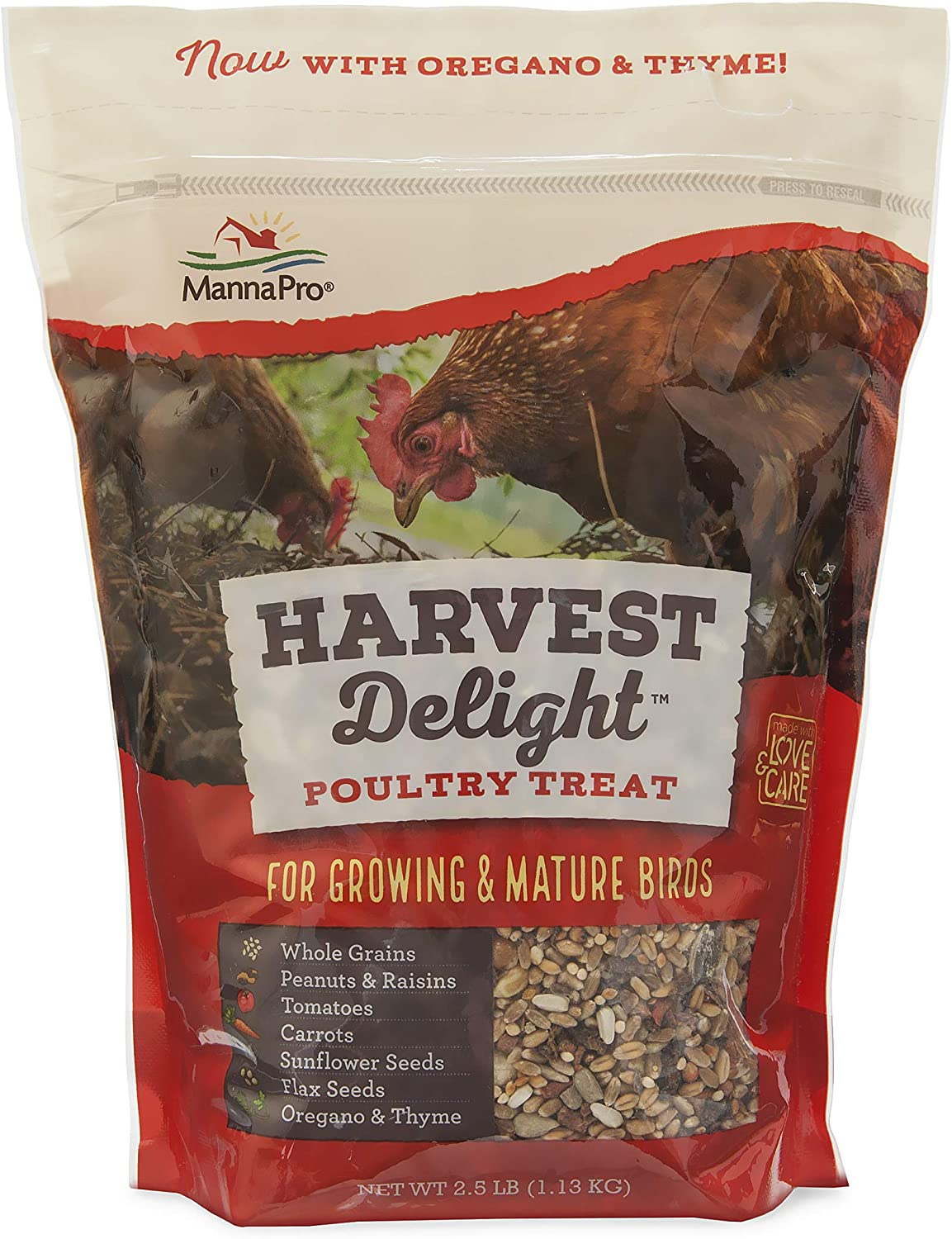 Manna Pro Harvest Delight Poultry Treats | Whole Grain Treats with Real Fruit & Vegetables | 2.5 Pounds