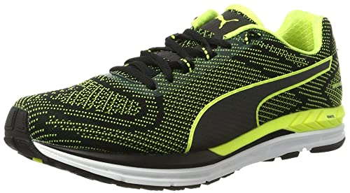 49df9afb557 Puma Men s Speed 600 S Ignite Black and Safety Yellow Running Shoes - 10 UK