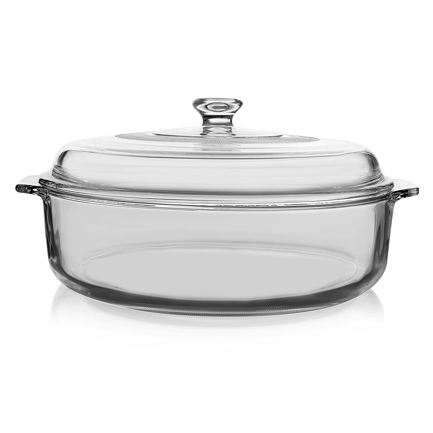 3-quart Manufactured by Libbey with minimally sourced accessories 55952 Libbey Bakers Basics Glass Casserole Dish with Cover