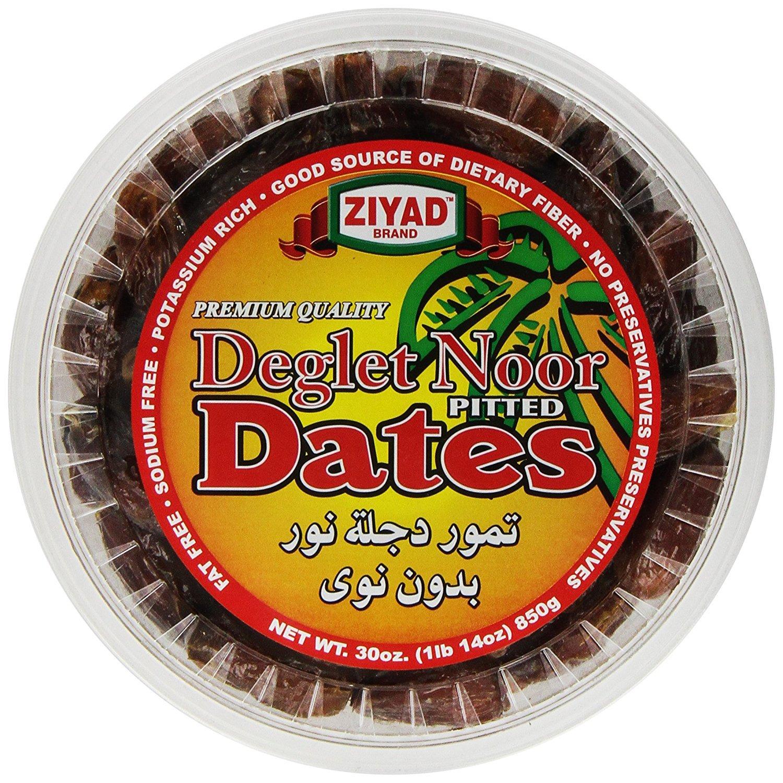 Ziyad Deglet Noor Pitted Kajoor Dates, 30 OZ (Pack - 6)