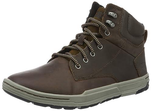 Cat Colfax Mid, Men Hi-Top Sneakers, Brown (Dark Brown),