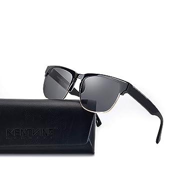 a0ef5e068c3 Amazon.com  KENTKING Vintage Retro Semi-Rimless Sunglasses
