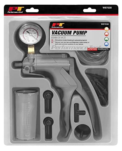 Performance Tool W87030 One Man Automotive Hand Vacuum Pump Test Brake Bleeder Kit Please Update