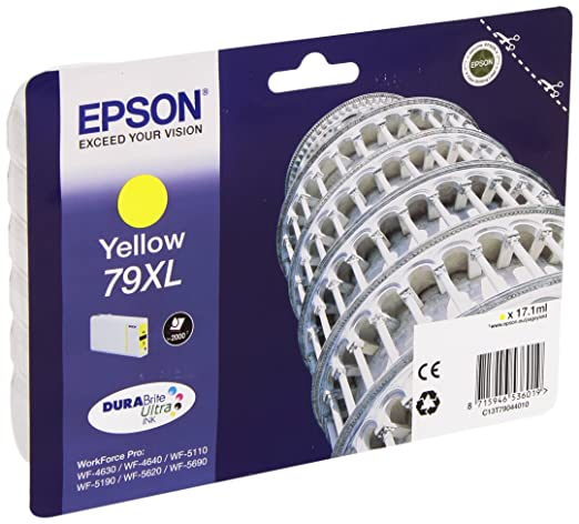 29 opinioni per Epson C13T79044010 Cartuccia Inkjet Alta Capacità, Blister RS 79XL, 17.1 ml,