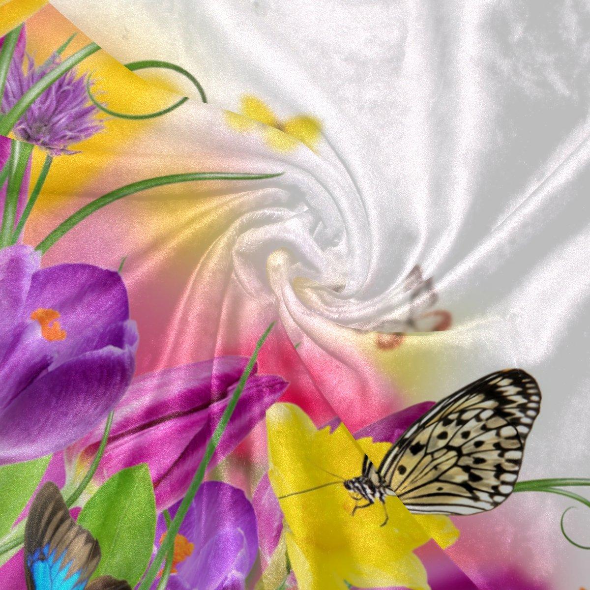 COOSUN Flowers Daffodils Butterflies Butterflies Butterflies Super Soft Warm Blanket Lightweight Throw Blankets for Bed Couch Sofa Travelling Camping 90 x 60 Inch for Kids Boys Girls B0789BDLRR Kopfkissenbezüge 782569