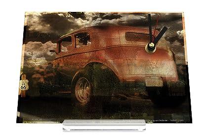Reloj de escritorio Garage Diseño look Usado coche al aire libre Decoración Retro