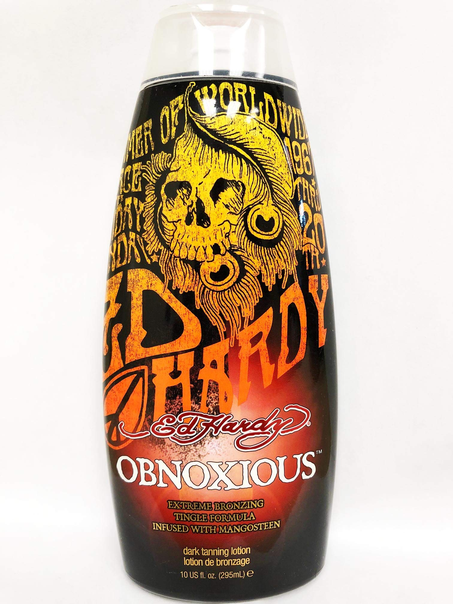 Ed Hardy Obnoxious Extreme Bronzer Tingle Tanning Lotion, 10 oz. by ED HARDY
