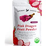 Ancient Choice - Red Dragon Fruit Powder (5 ounces) | USDA Organic Freeze Dried | Non-GMO Pitaya | Natural Food Coloring…