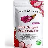 Ancient Choice - Red Dragon Fruit Powder (5 ounces)   USDA Organic Freeze Dried   Non-GMO Pitaya   Natural Food Coloring   Ve