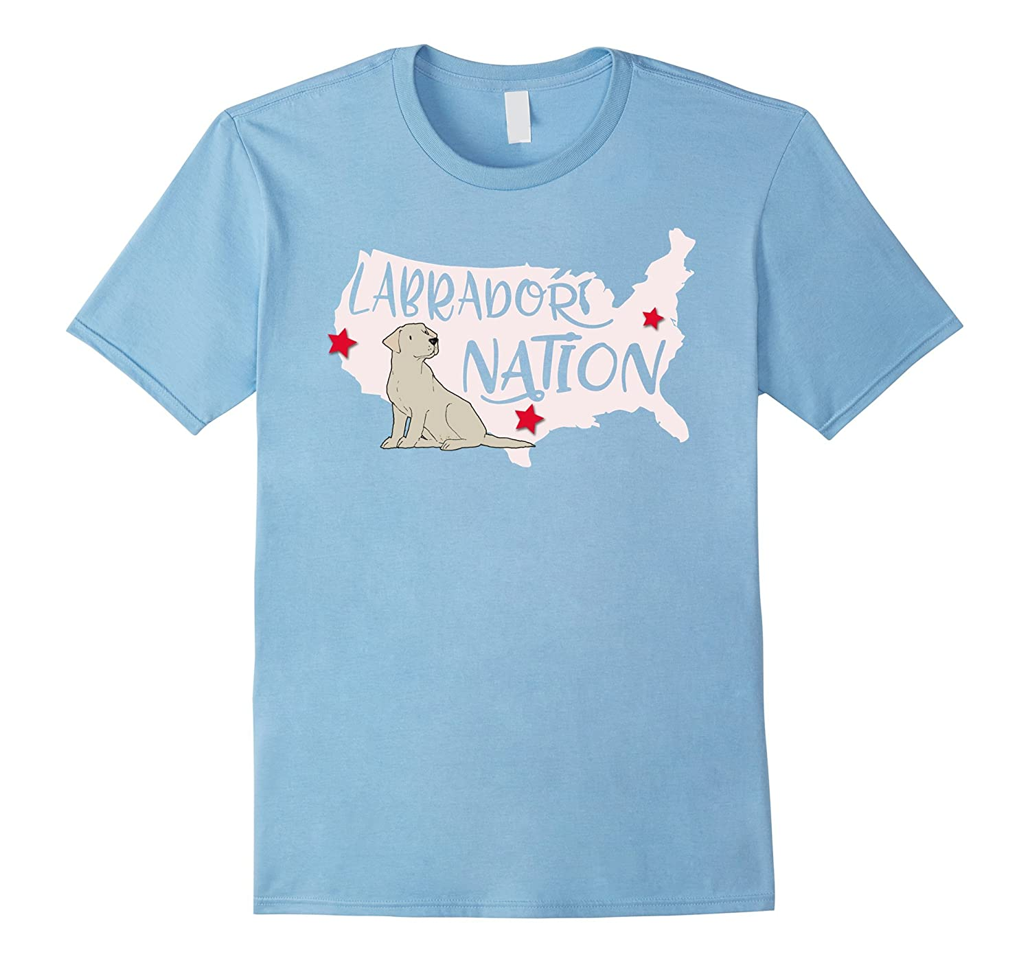 Labrador Nation Patriotic Labrador Retriever T-Shirt-PL