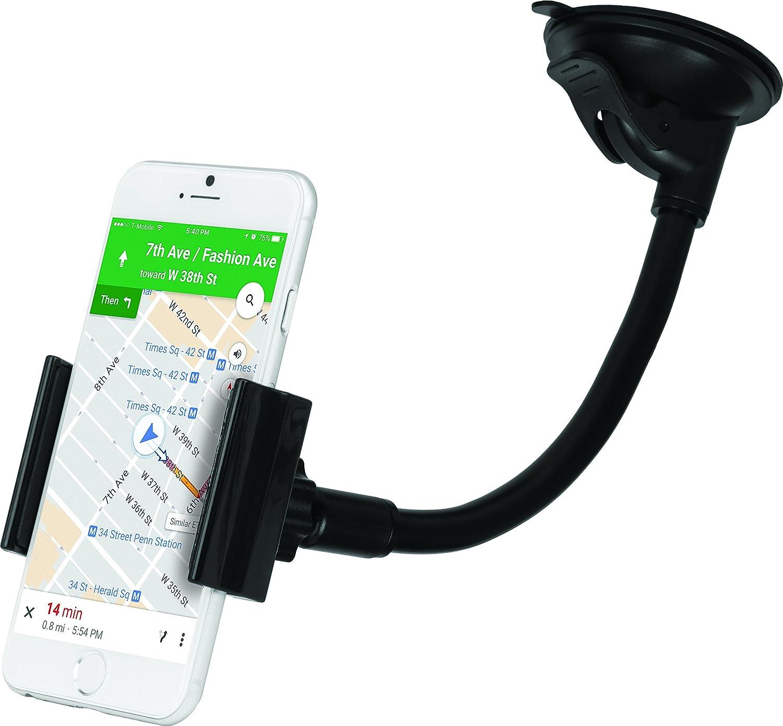 Black iHome IH-CM316B Car Mount for Universal Smartphones
