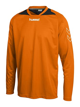 Hummel Roots Long Sleeve Poly Jersey, tangerine, S, 04-287-5006