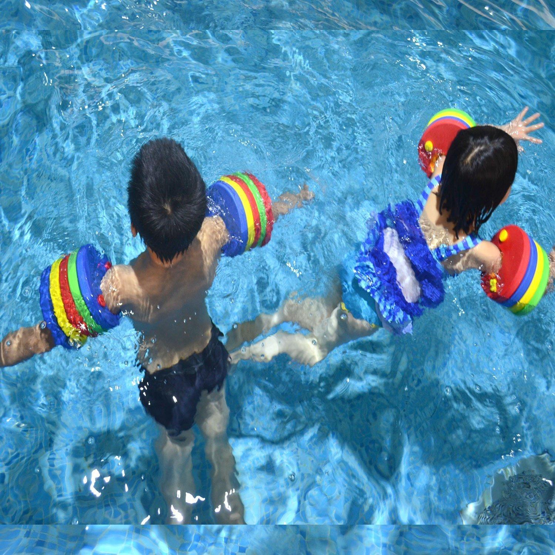ZZM Manguitos de natación para niños, Flotadores de Brazo Band Kids 6 Piezas Swim Discs Safe Equipo de Entrenamiento de natación Desmontable Colorful Swim ...