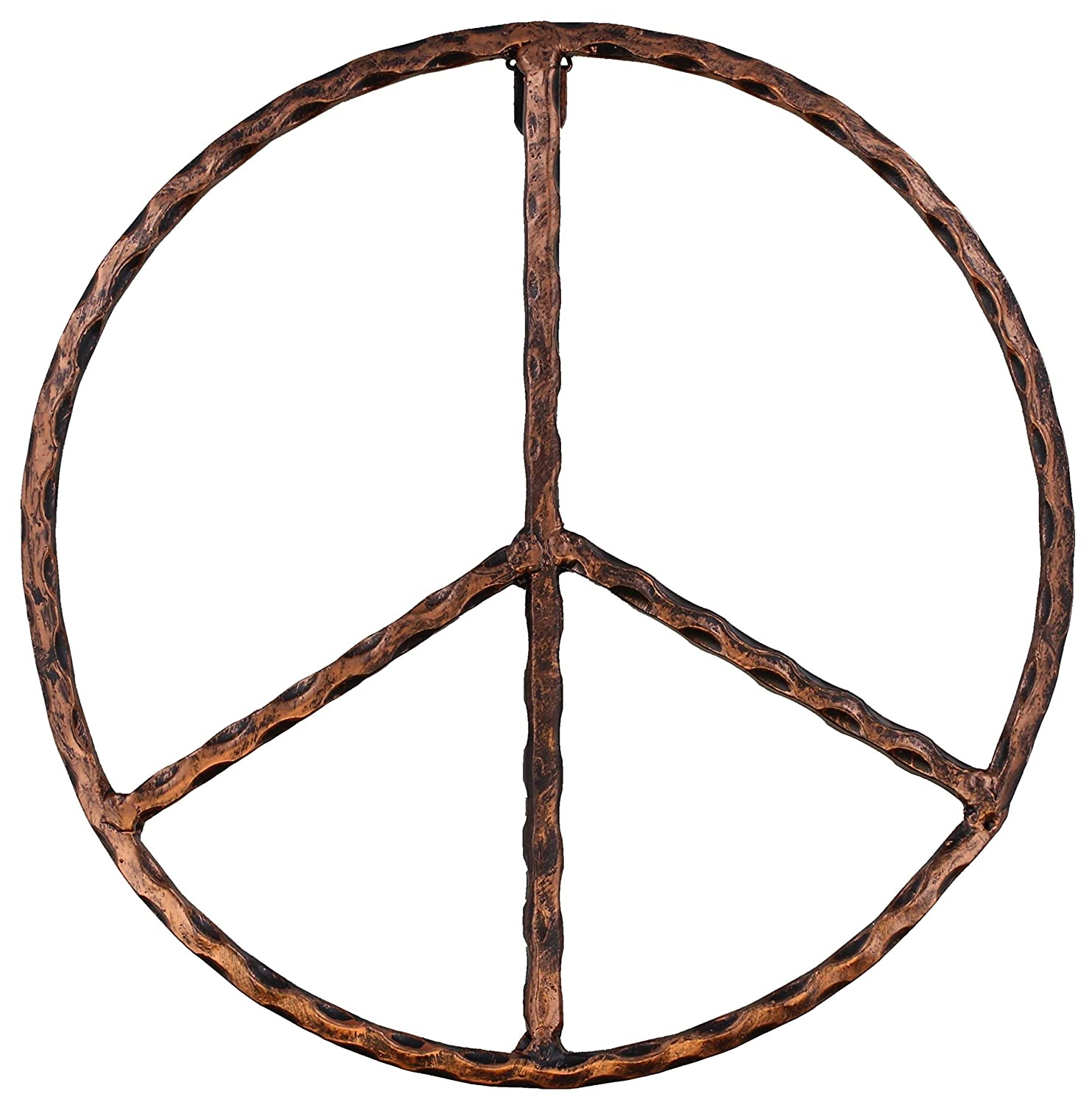 Old River Outdoors Metal Peace Sign Wall Decor Art 12 Rustic Hippie Plaque