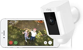 Ring Spotlight Wired Security Camera + Echo Show 5