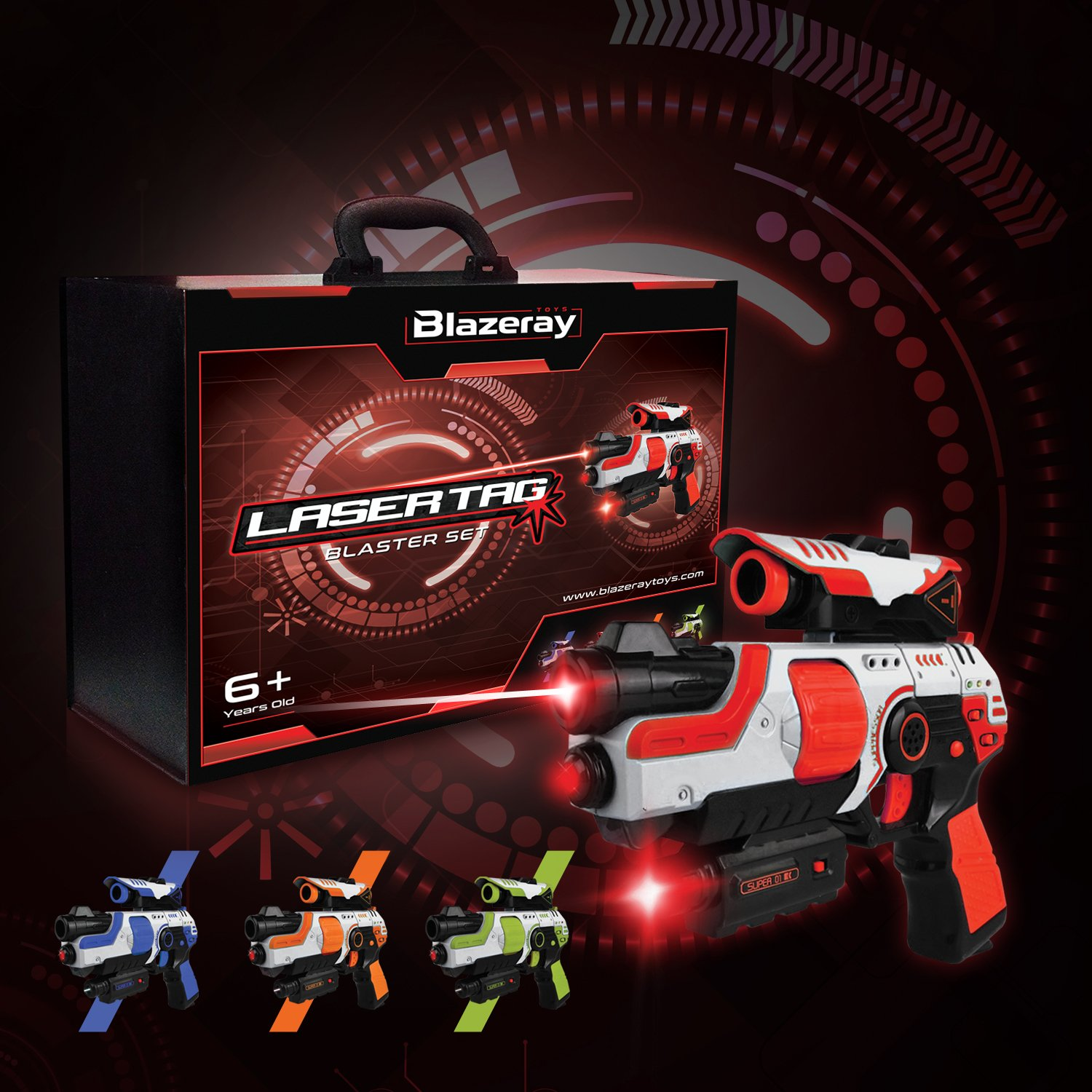 Lazer Tag Gun Set Game Two To Four Player Laser For Kids Voucher Whatsapp Blast Indoor And Outdoor Family Games Supermarket