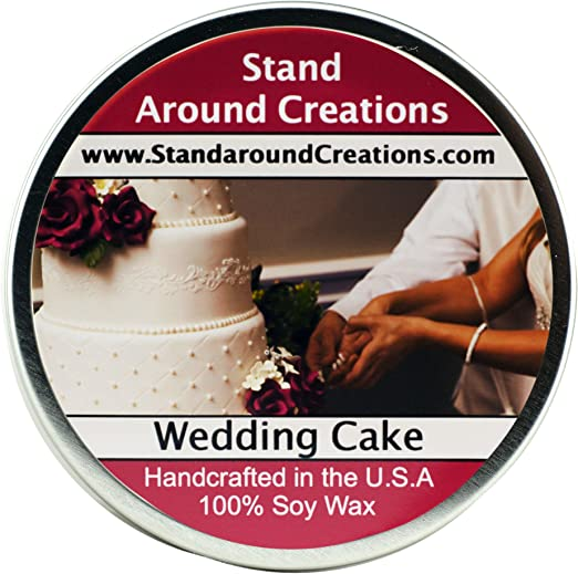 Premium 100/% Soy Apothecary Candle Wedding Cake 16 oz Double Wicked