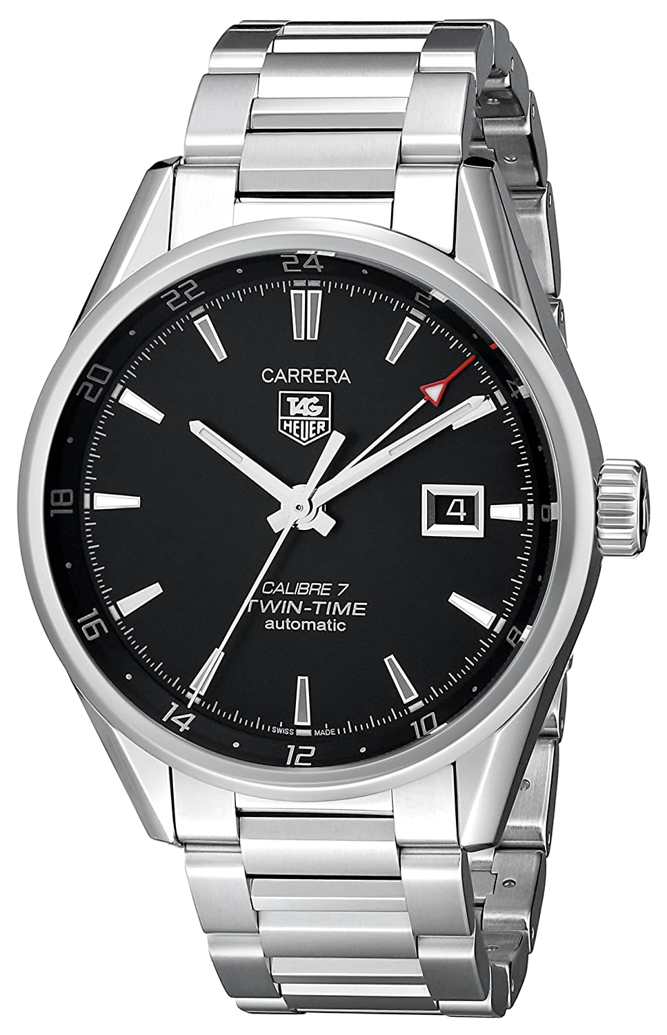 TAG Heuer Men s WAR2010.BA0723 Carrera Analog Display Swiss Automatic Silver Watch