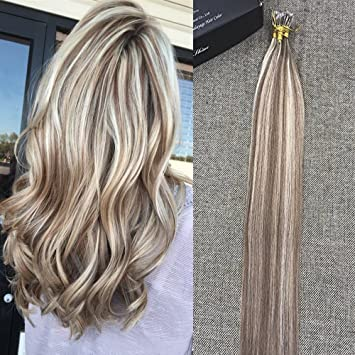 Amazon full shine 24 blonde highlighted hair extensions full shine 24quot blonde highlighted hair extensions color 10 and 613 blonde remy pmusecretfo Images