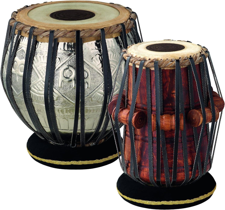 Meinl Percussion TABLA collezione Artisan 13,97//21,59 cm colore: Cromato//naturale diametro Dayan//Bayan 5,5//8,5 Set di tabla