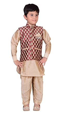 Amazon.com Boys Indian Sherwani kids Kurta Salwar Kameez with waistcoat vest costume 883 Clothing  sc 1 st  Amazon.com & Amazon.com: Boys Indian Sherwani kids Kurta Salwar Kameez with ...