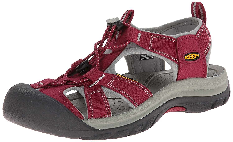 KEEN Women's Venice H2 Sandal B00LG81DCO 7.5 B(M) US|Beet Red/Neutral Gray