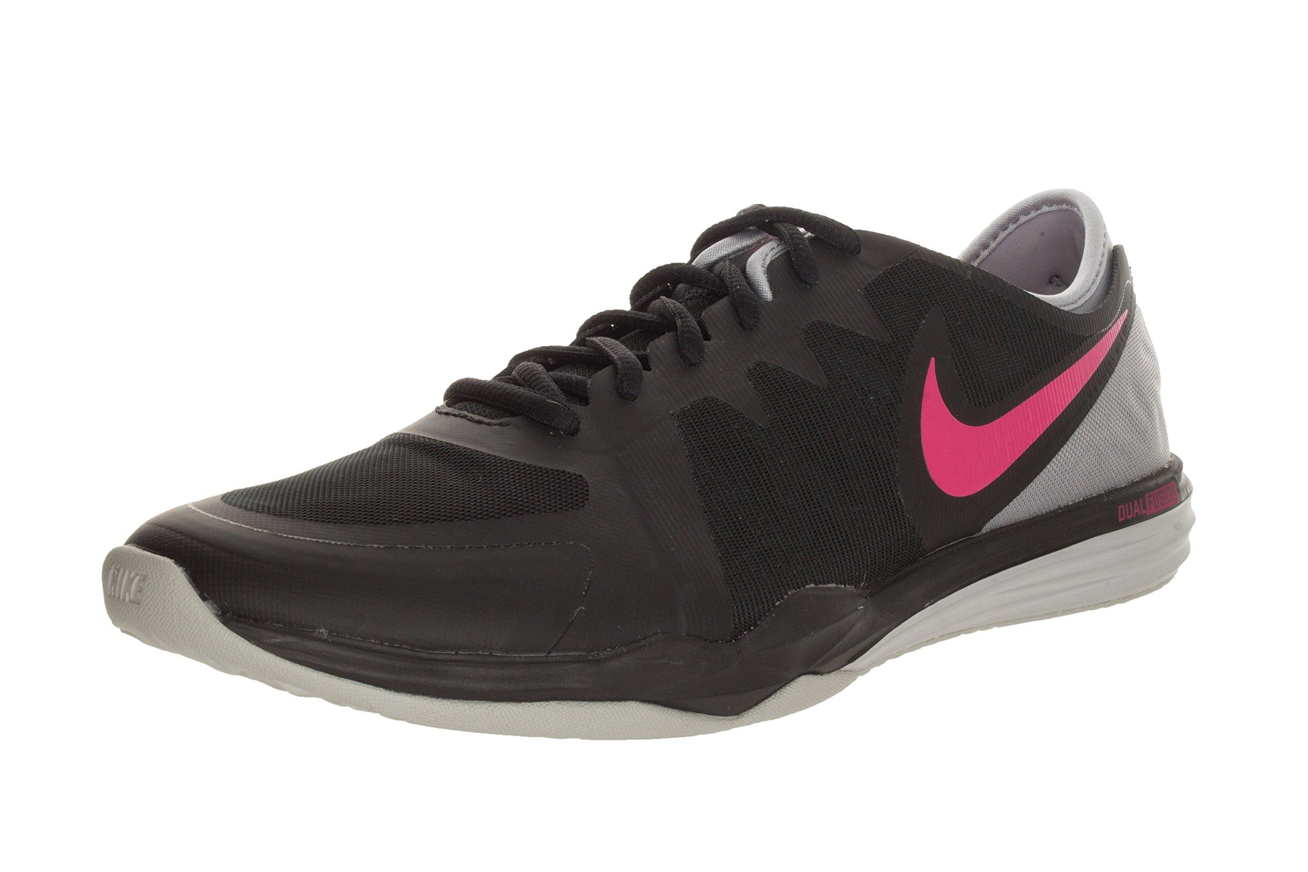 NIKE Women's Dual Fusion TR 3 Black/Pink Pow/Wolf Grey Training Shoe 6 Women US