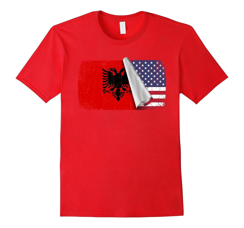 Albania flag Distressed Shirt-Art
