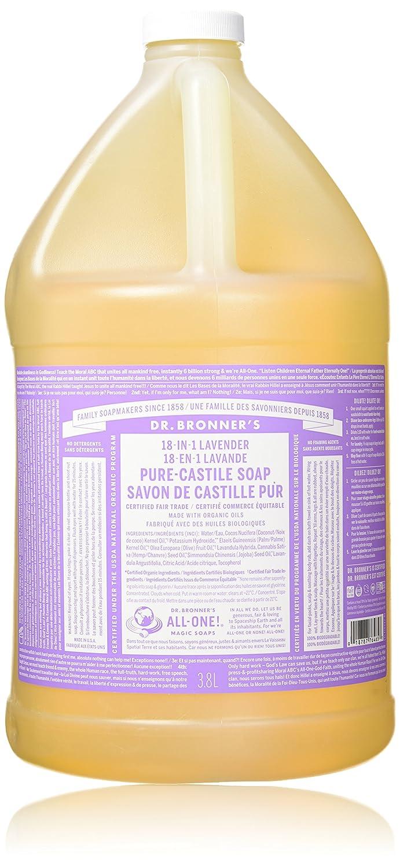 Dr. Bronner's Pure-Castile Liquid Soap - Lavender, 1 Gallon Dr. Bronner' s 18787764657