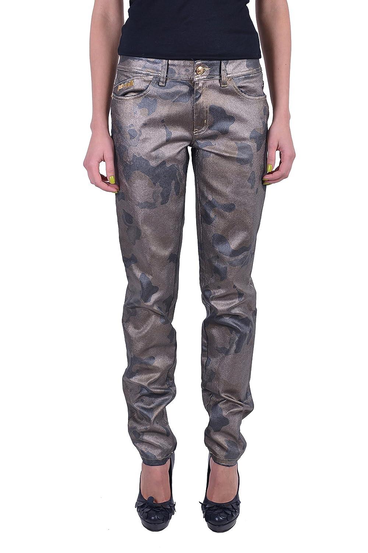 """Just Cavalli """"Just Luxury"""" Military Print Coated Skinny Leg Jeans US 26 IT 40"""