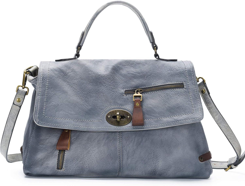 Crossbody Bags for Women Leather Messenger Bag Hobo Satchel Purses Handbags