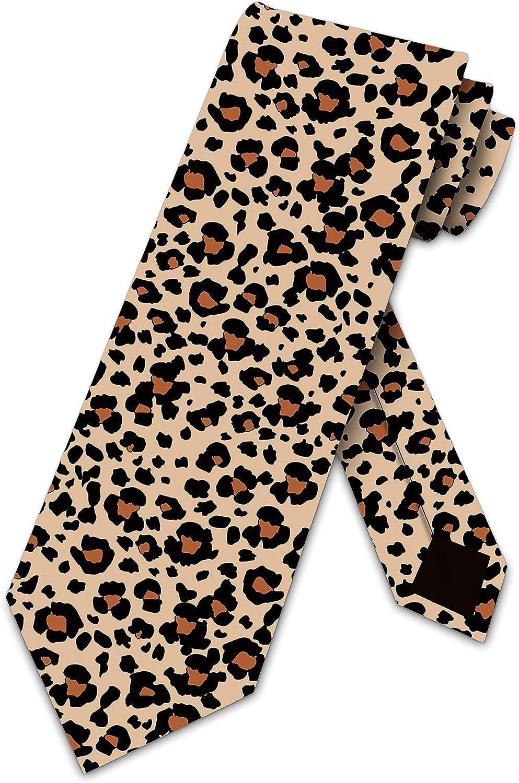 Leopard Print Tie -Mens Neckties by Three Rooker