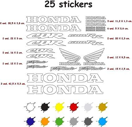 Aufkleber Set Für Motorrad Vinyl 7 Jahre Gestanzt Kompatibel Mit Honda Cbr 600 Rr Enthält 25 Aufkleber Weiß Auto