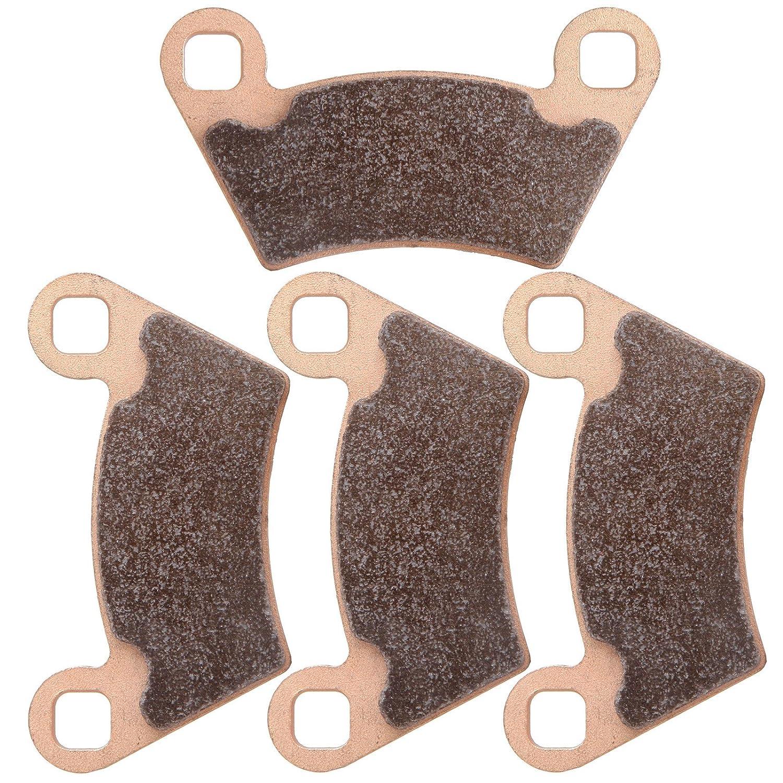 SCITOO Sintered Brake Pads Fit for 04 05 06 07 08 09 11 12 Polaris Ranger