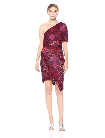 fc8eb845f08d Elliatt Women s Apparel Women s Cosmic One Shoulder Lace Short Wrap Dress