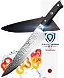 "DALSTRONG Chef's Knife - 10.25"" - Large - Shogun Series X Professional Gyuto - Japanese VG10 67-Layers - Hammered Finish - Sheath"